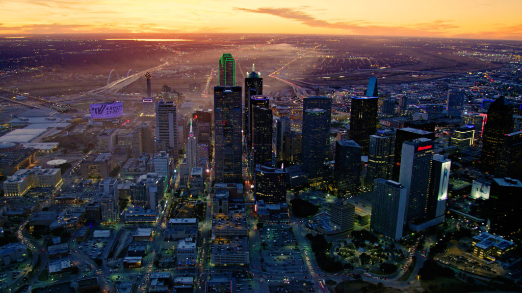 Downtown Dallas Aerial